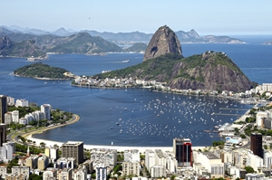 city of Rio at edge of water