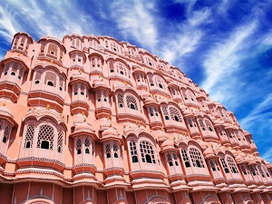 pink building in Jaipur India