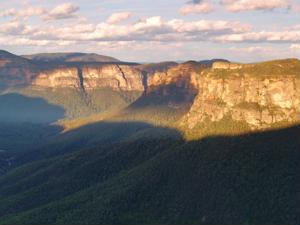 landscape of national park plateaus